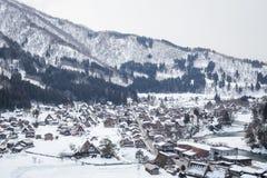 La neve di Shirakawa-va, il Giappone Fotografia Stock Libera da Diritti