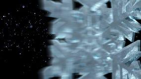 La neve, fiocchi di neve, ha reso l'animazione di nevicata, fiocchi di neve di caduta, fondo della neve stock footage