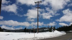 La neve ha baciato il backgrund fotografia stock