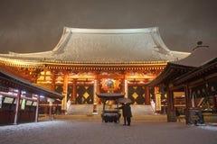 La neve più pesante nelle decadi a Tokyo Immagine Stock Libera da Diritti