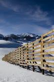 La neve recinta il cileno le Ande Immagini Stock Libere da Diritti