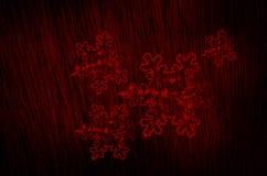 la neve si sfalda fondo di struttura del sangue Fotografia Stock