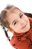 La niña aislada en un blanco Fotografía de archivo libre de regalías