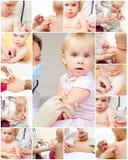 La niña consigue una inyección Imagen de archivo libre de regalías