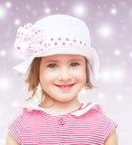 La niña en el sombrero Imágenes de archivo libres de regalías