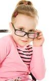 La niña en vidrios Imagenes de archivo