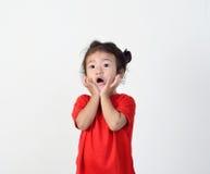 La niña es asombrosamente imagen de archivo libre de regalías