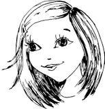 La niña ha drenado en a   libre illustration