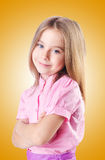 La niña linda aislada en el blanco Imagen de archivo libre de regalías