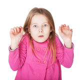 La niña muy sorprendida Foto de archivo libre de regalías