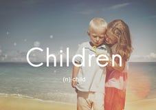 La niñez del niño de los niños embroma concepto joven de la juventud Imagen de archivo libre de regalías