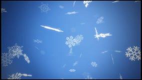 La nieve azul forma escamas los fondos libre illustration