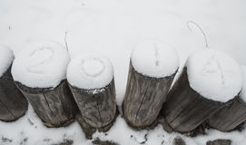 La nieve de 2014 Fotos de archivo libres de regalías
