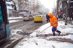 La nieve es Estambul Imagen de archivo libre de regalías