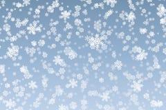 La nieve forma escamas fondo Imagenes de archivo