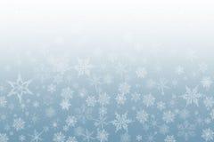 La nieve forma escamas fondo Foto de archivo