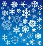 La nieve forma escamas las opciones imágenes de archivo libres de regalías