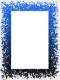 La nieve forma escamas marco Imágenes de archivo libres de regalías