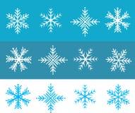 La nieve forma escamas vector Imágenes de archivo libres de regalías