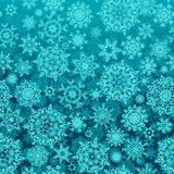La nieve inconsútil forma escamas modelo del vector Imagen de archivo