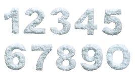 La nieve labró números Imagen de archivo