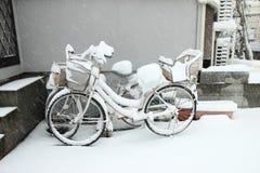 La nieve más pesada en décadas en Tokio y otras áreas de Japón fotos de archivo libres de regalías