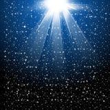 La nieve y las estrellas están cayendo