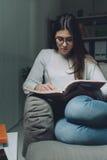 La noche antes del examen Imagenes de archivo