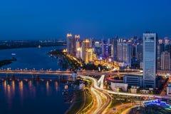 La noche de Harbin Fotografía de archivo libre de regalías