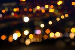 La noche de la ciudad enciende colorido Foto de archivo libre de regalías