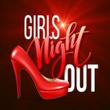 La noche de la muchacha hacia fuera va de fiesta diseño Ilustración del vector Fotografía de archivo