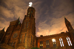 La noche del castillo de Smithsonian Stars Washington DC Fotos de archivo