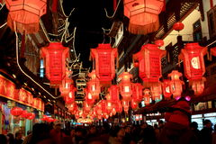 La noche del festival de linterna Fotografía de archivo libre de regalías