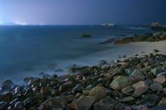 La noche del océano tranquilo Fotografía de archivo libre de regalías