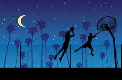 La noche del streetball Ilustración del Vector