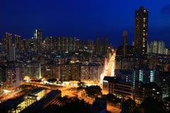 La noche en Shum Shui Po Imagen de archivo