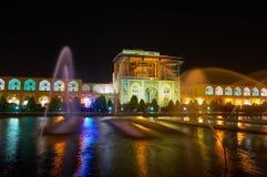 La noche Isfahán, Irán fotografía de archivo
