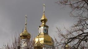 La noche ortodoxa de la asunción del St de la catedral de la asunción Cathedral metrajes