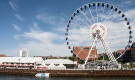 La noria de Gdansk Foto de archivo libre de regalías