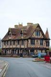 LA NORMANDIE, FRANCE 8 JANVIER : Détail Beuvron-en-Auge du village en janvier 8,2013 en Normandie Photographie stock