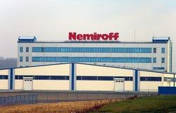 La norme russe achètera Nemiroff ukrainien Image stock