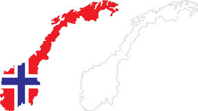 La Norvège illustration stock