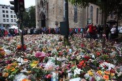 La Norvège après des attaques Images libres de droits