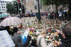 La Norvège après des attaques Photographie stock