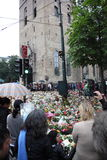 La Norvège après des attaques Image libre de droits