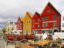 La Norvège, Bergen Downtown Landmark image stock