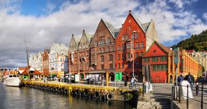 La Norvège, Bergen Downtown Landmark photographie stock