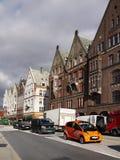 La Norvège Bergen Street View Images stock