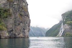 La Norvège - cascade de sept soeurs Image libre de droits