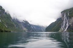 La Norvège - cascade de sept soeurs Image stock